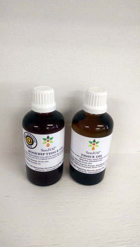 Rosehip tissue oil and certified tissue oil seedoilsa